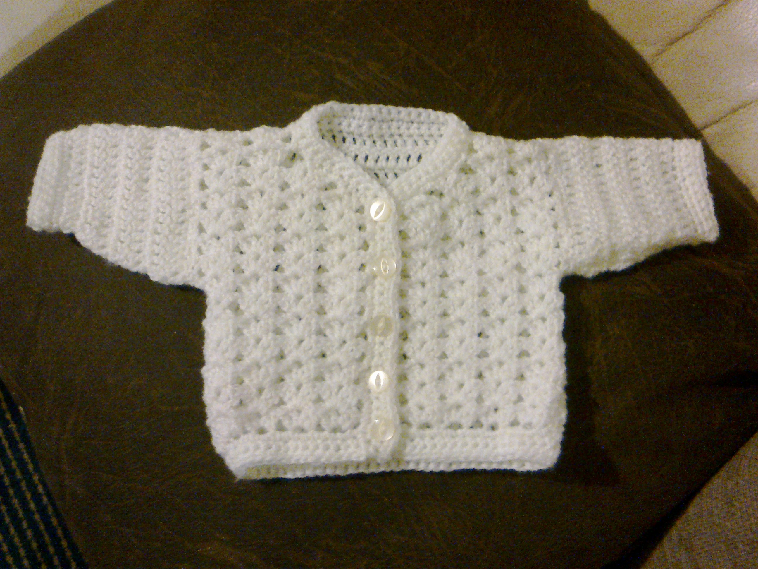 Crochet Baby Hat And Sweater Pattern : Baby Cardigan Crochet Pattern Crochet Guild